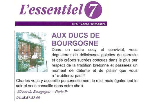 Crêperie 75007 Paris Article L'Essentiel 7