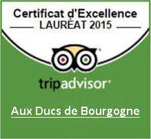 Certificat Advisor 2015 pour la Crêperie-restaurant  à Paris 75007